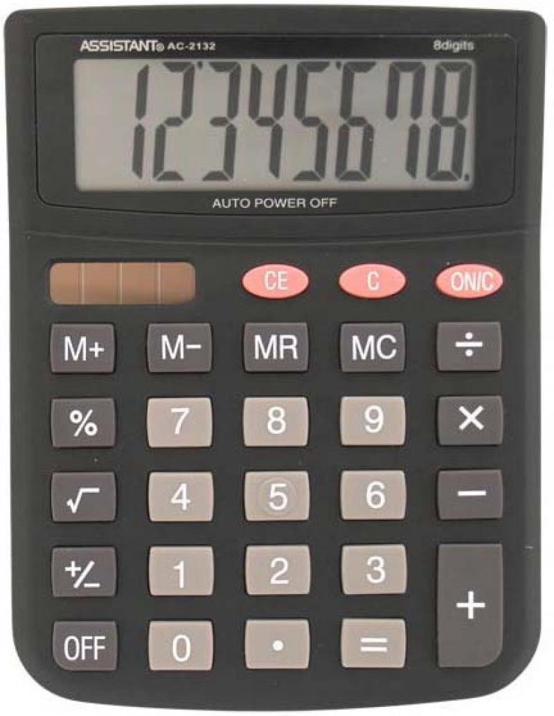 Калькулятор настольный Assistant AC-2132 8-разрядный AC-2132 калькулятор assistant ac 1121 8 разрядный