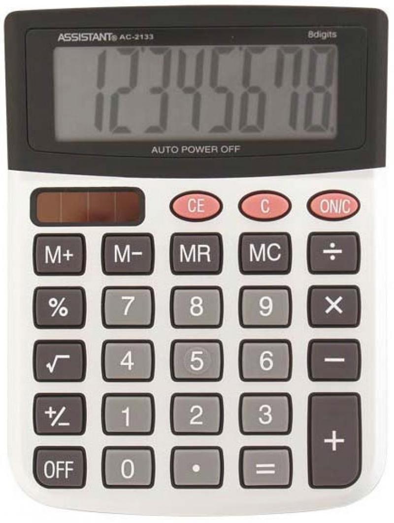 Калькулятор настольный Assistant AC-2133 8-разрядный AC-2133 калькулятор assistant ac 1191 8 разрядный цвет серебристый