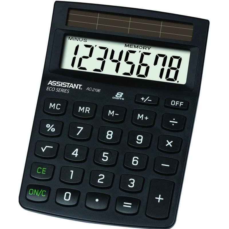 Калькулятор настольный Assistant AC-2196eco 8-разрядный AC-2196eco калькулятор assistant ac 1193 8 разрядный цвет зеленый