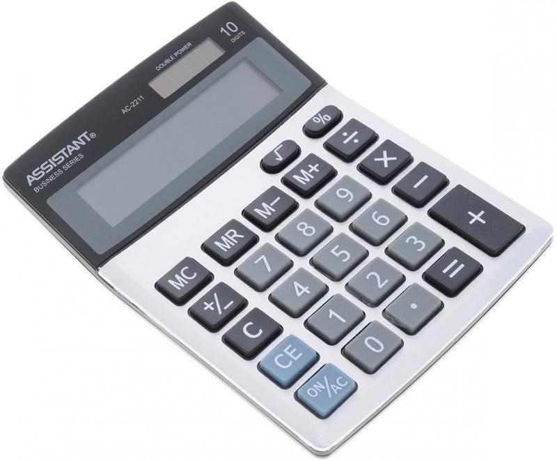 Калькулятор настольный Assistant AC-2211 10-разрядный AC-2211 сувенир акм браслет деревянный малый 104 2211 page 5