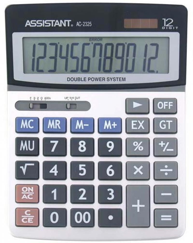 Калькулятор настольный Assistant AC-2325 12-разрядный AC-2325 калькулятор настольный assistant 12 разрядный ac 2321