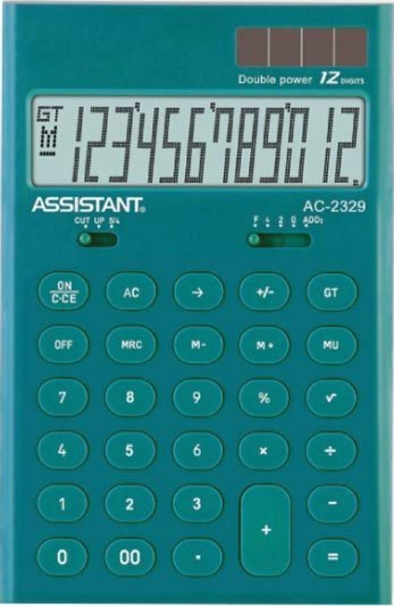 Калькулятор настольный Assistant AC-2329 12-разрядный AC-2329Murena калькулятор assistant ac 2329 12 разрядный цвет желтый
