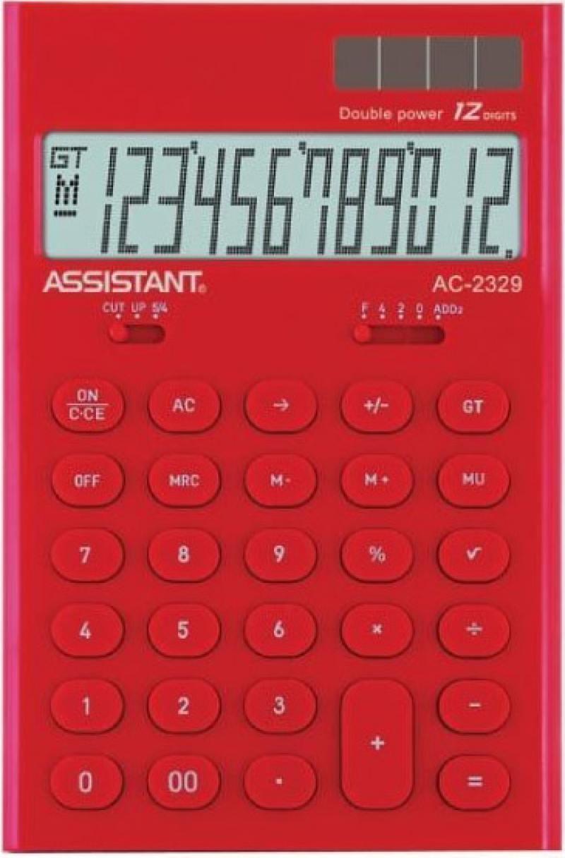 Калькулятор настольный Assistant AC-2329 12-разрядный AC-2329Red калькулятор assistant ac 2329 12 разрядный цвет желтый
