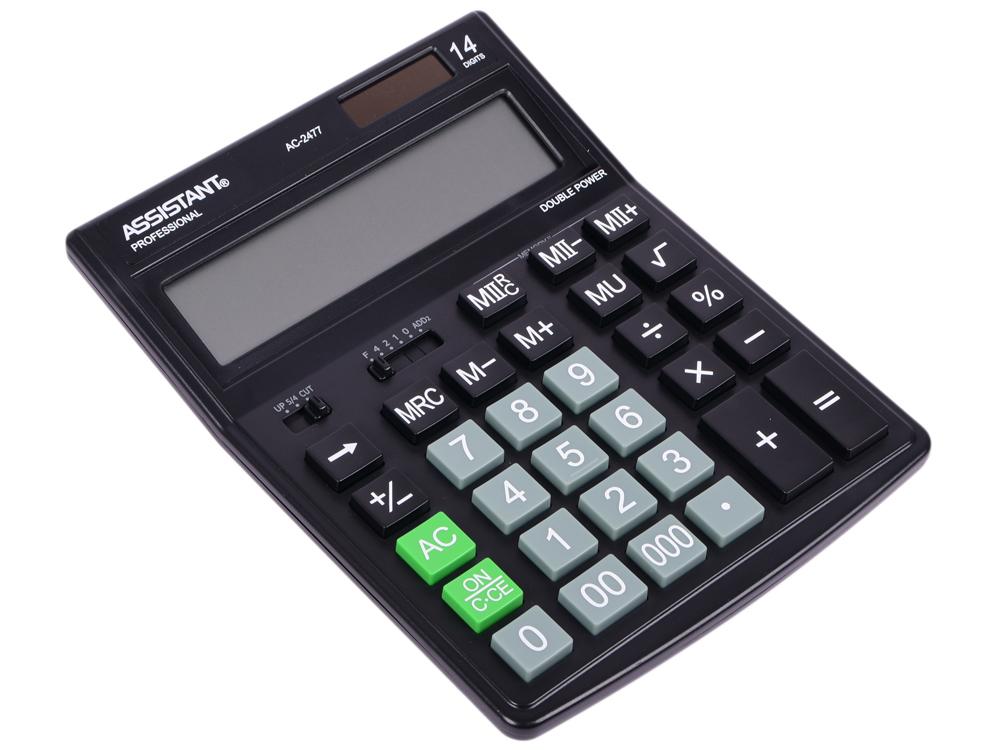 Калькулятор настольный Assistant AC-2477 14-разрядный AC-2477 калькулятор assistant ac 2377 настольный в коробке