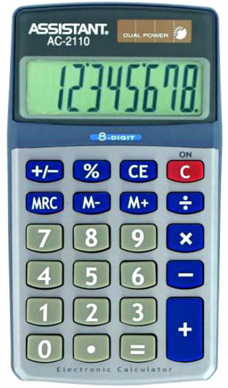 Калькулятор настольный Assistant AC-2110 8-разрядный AC-2110 калькулятор assistant ac 2341 настольный в коробке