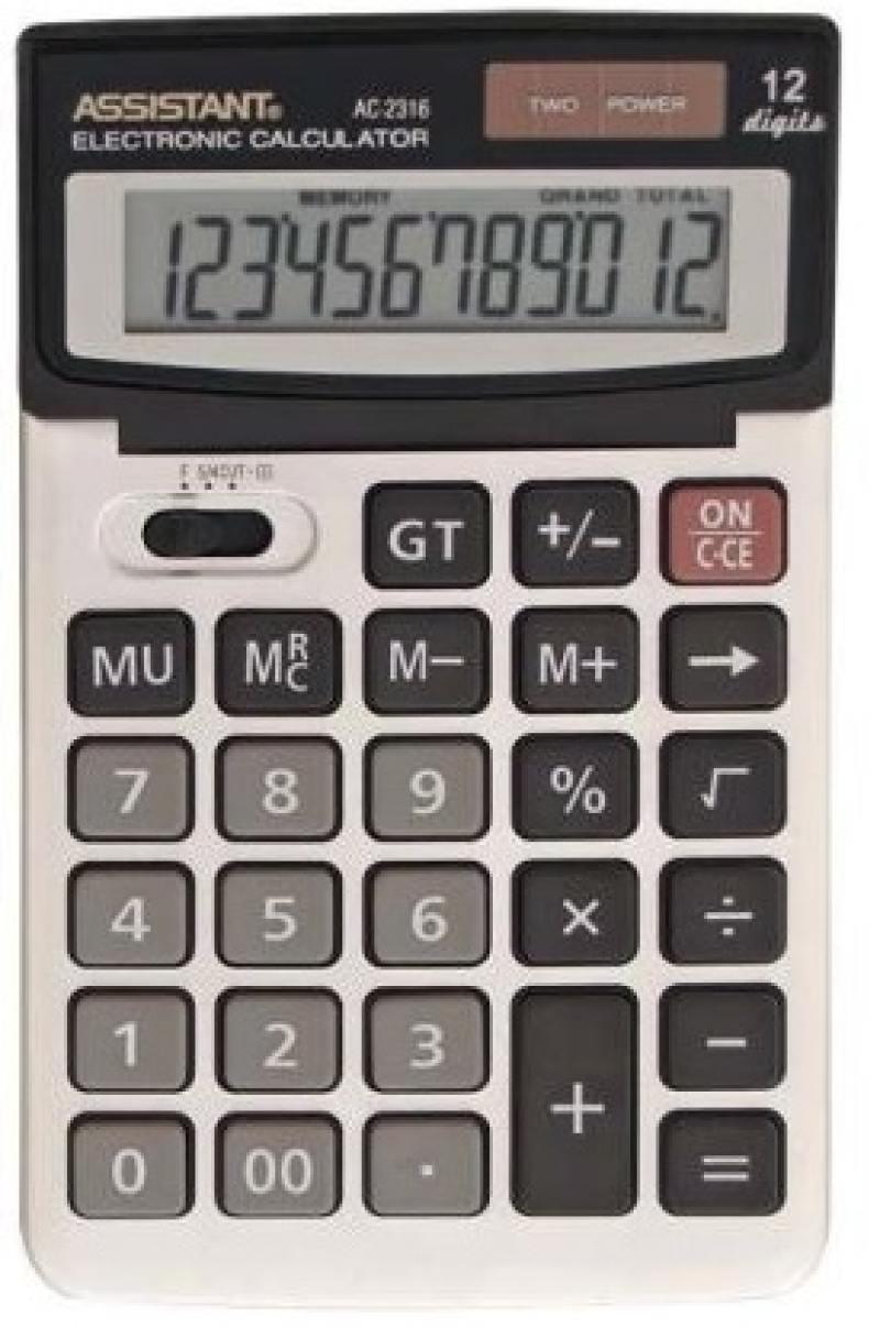 Калькулятор настольный Assistant AC-2316 12-разрядный AC-2316 калькулятор assistant ac 2329 12 разрядный цвет желтый