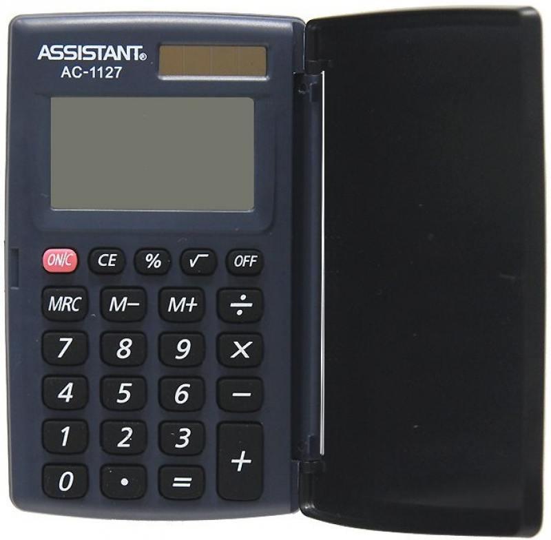 Калькулятор карманный Assistant AC-1127 8-разрядный калькулятор assistant ac 1121 8 разрядный