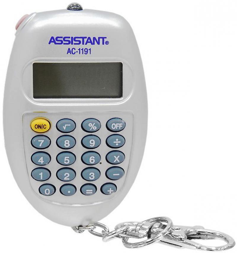 Калькулятор карманный Assistant AC-1191SL 8-разрядный AC-1191SL калькулятор карманный assistant ac 1203 10 разрядный ac 1203