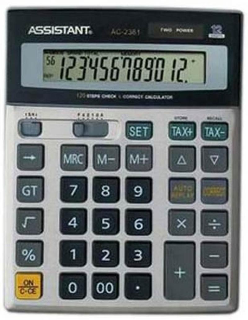 Калькулятор 12-разр., дв. питание, проверка-коррекция (120 шагов), мет. панель, разм.200х157х37 мм A