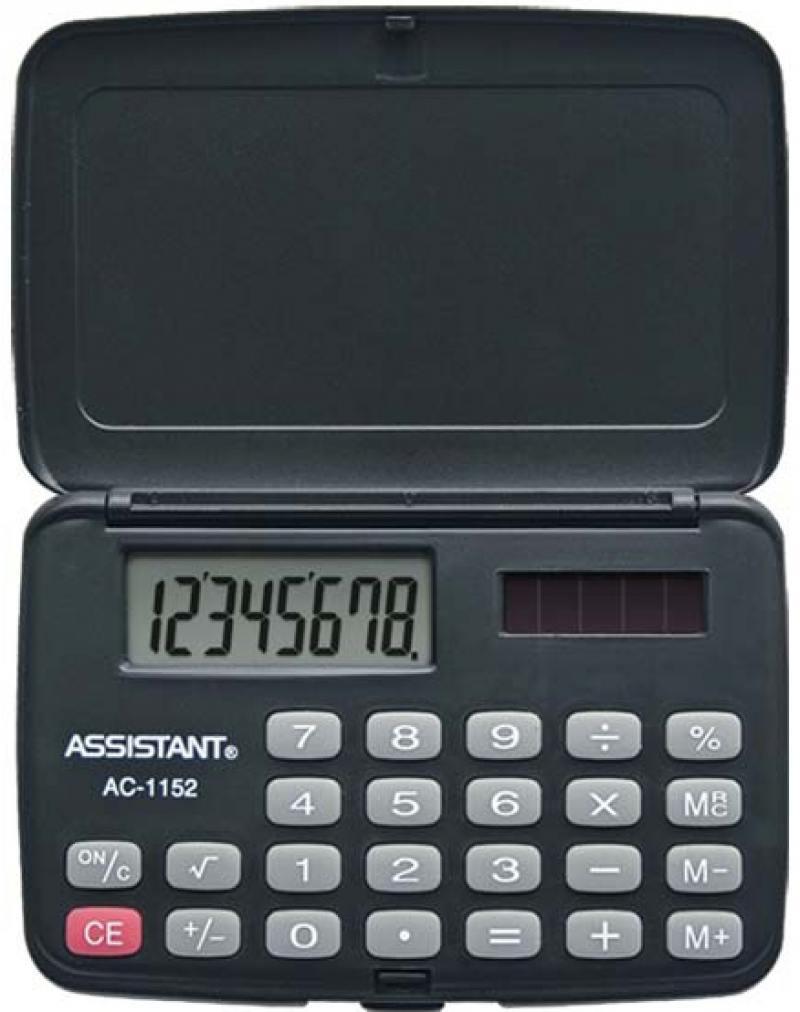 Калькулятор карманный Assistant AC-1152 8-разрядный AC-1152 калькулятор карманный assistant ac 1203 10 разрядный ac 1203