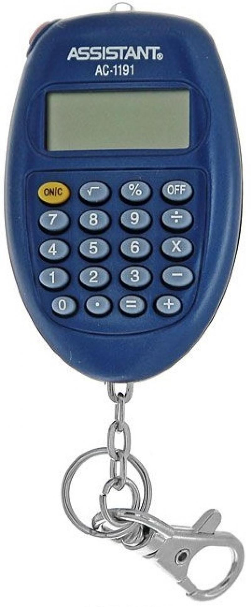 Калькулятор карманный Assistant AC-1191BL 8-разрядный AC-1191BL калькулятор карманный assistant ac 1203 10 разрядный ac 1203