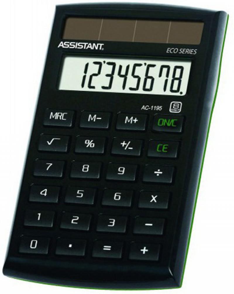 Калькулятор карманный Assistant AC-1195eco 8-разрядный AC-1195eco калькулятор карманный assistant ac 1203 10 разрядный ac 1203