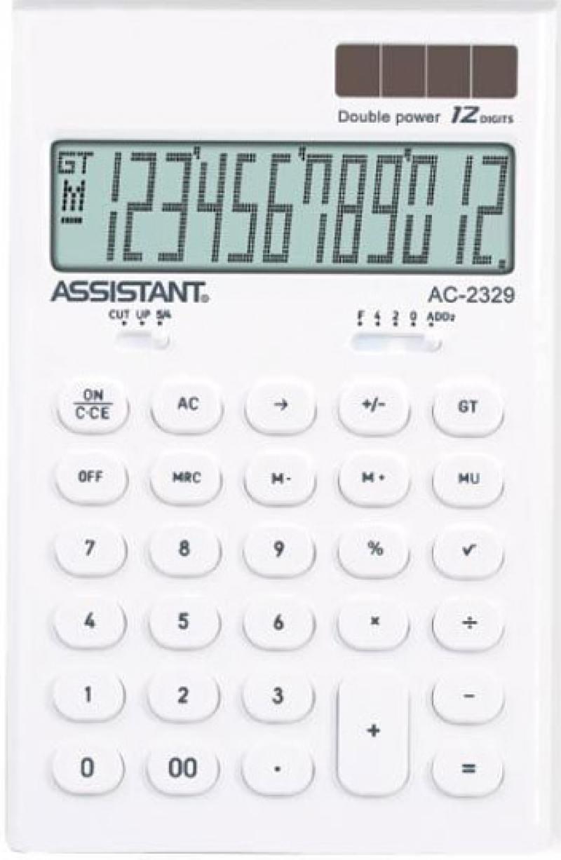 Калькулятор настольный Assistant AC-2329 12-разрядный AC-2329White калькулятор assistant ac 2329 12 разрядный цвет желтый