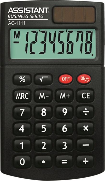 калькуляторы assistant калькулятор карманный Калькулятор карманный Assistant AC-1111 8-разрядный