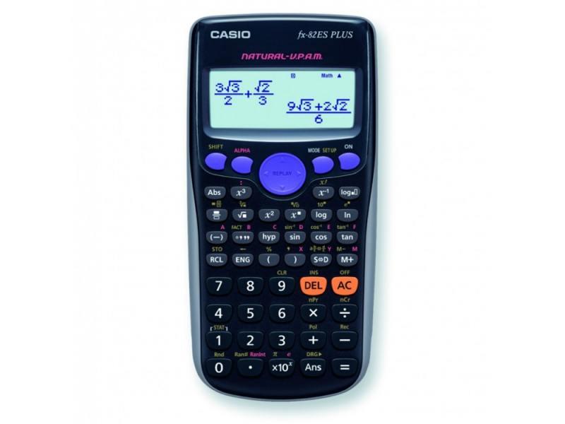 Калькулятор Casio FX-82ESPLUS питание от батареи 10+2 разряда научный 252 функций черный