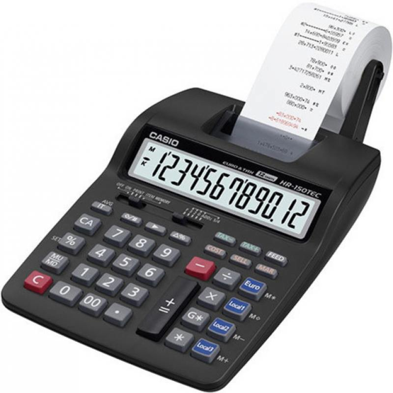 Калькулятор бухгалтерский CASIO HR-150RCE-WA-EC 12-разрядный калькулятор casio fr 2650rc w ec 12 разрядный серый