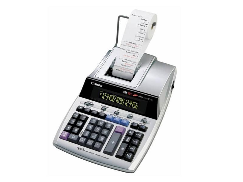 Калькулятор Canon MP1611-LTSC-ES 16 разрядов серебристо-серый