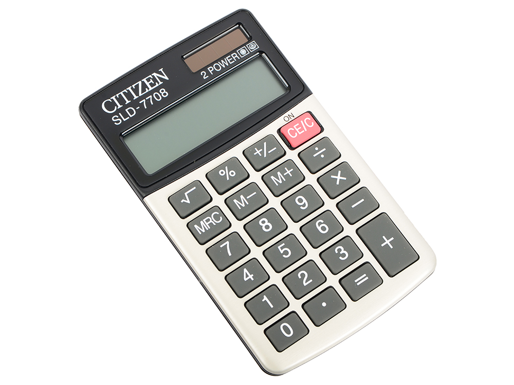 Калькулятор карманный Citizen SLD-7708 белый 8-разр. citizen наcтольный белый салатовый