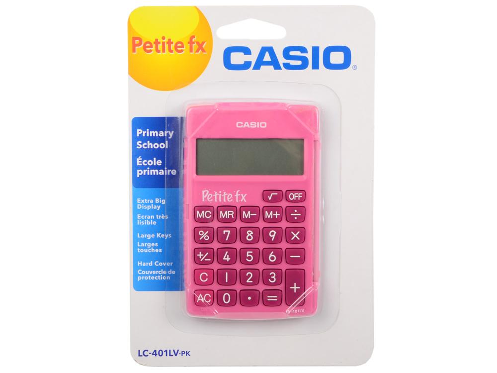 Калькулятор карманный Casio LC-401LV-PK розовый 8-разр. compatible bare bulb lv lp06 4642a001 for canon lv 7525 lv 7525e lv 7535 lv 7535u projector lamp bulb without housing