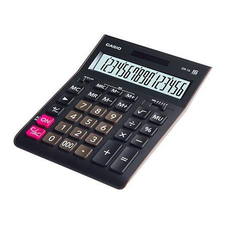 Калькулятор настольный CASIO GR-16-W-EP 16-разрядный черный