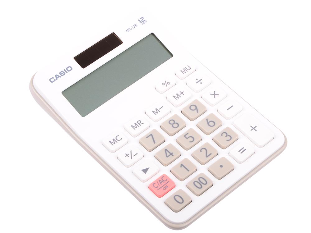 Калькулятор бухгалтерский CASIO MX-12B-WE 12-разрядный белый калькулятор casio dx 12b