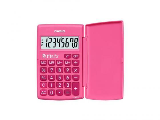 Калькулятор карманный CASIO LC-401LV-PK 8-разрядный розовый compatible bare bulb lv lp06 4642a001 for canon lv 7525 lv 7525e lv 7535 lv 7535u projector lamp bulb without housing
