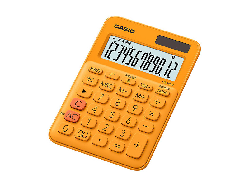 Калькулятор настольный CASIO MS-20UC-RG-S-EC 12-разрядный оранжевый калькулятор casio ms 20uc yg s ec 12 разрядный желтый