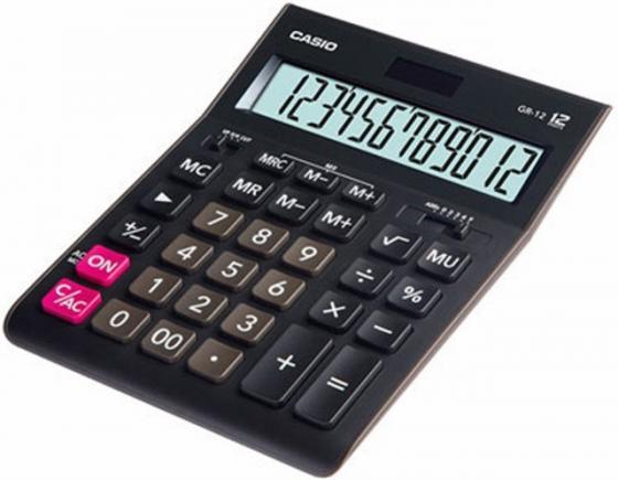 Калькулятор настольный CASIO GR-12-W-EP 12-разрядный черный калькулятор casio dh 12 коричневый черный
