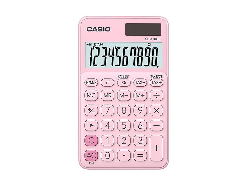 Калькулятор карманный CASIO SL-310UC-PK-S-EC 10-разрядный розовый калькулятор карманный casio hl 820lv 8 разрядный