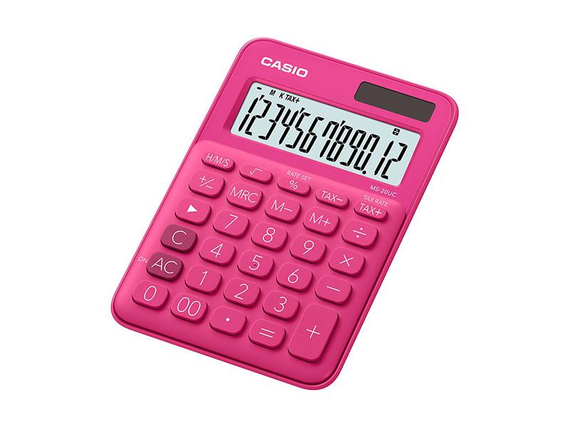 Калькулятор настольный CASIO MS-20UC-RD-S-EC 12-разрядный красный калькулятор casio ms 20uc yg s ec 12 разрядный желтый
