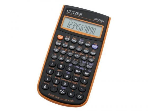 Калькулятор Citizen SR-260NOR 10+2 разряда научный 165 функций черно-оранжевый калькулятор casio fx 82sxplus питание от батареи 12 разряда научный 177 функций синий