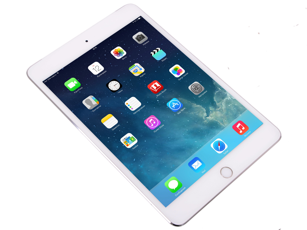 Планшет Apple iPad mini 4 MK772RU/A  128GB / Wi-Fi + Cellular / Silver