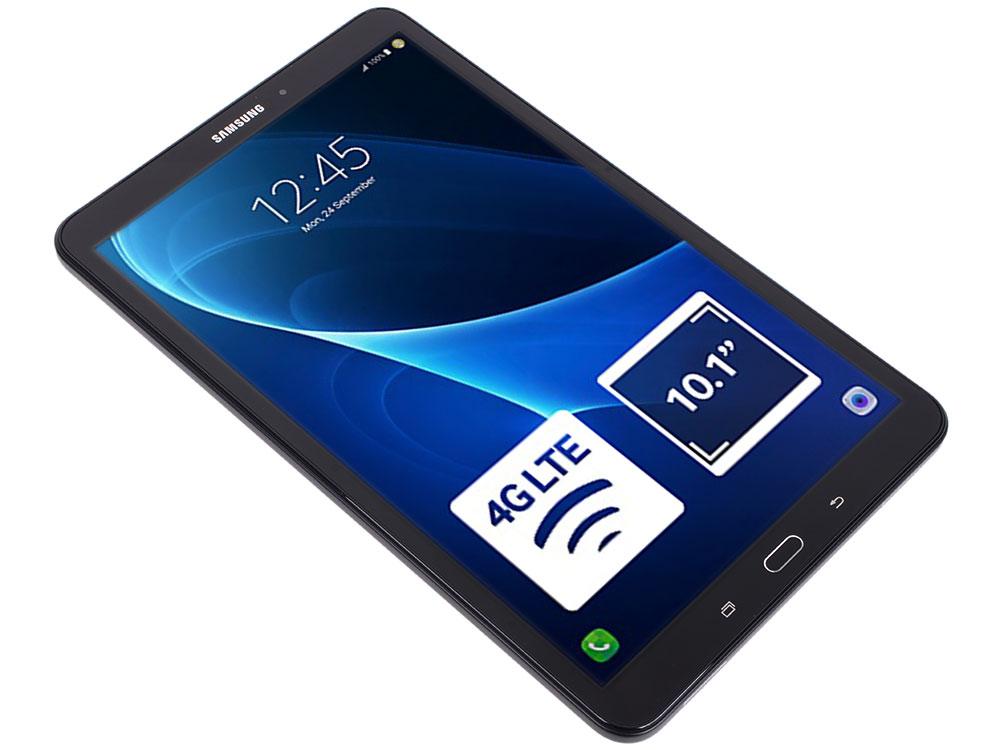 Планшет Samsung Galaxy Tab A 10.1 SM-T585N Black (SM-T585NZKASER) 1.6Ghz Quad/2Gb/16Gb/10.1 TFT 1920*1200/ WiFi/3G/LTE/BT/2cam/Android/Black* планшетный компьютер samsung galaxy tab 3 lite sm t116 7 1024mb 8gb wifi bt android4 4 black