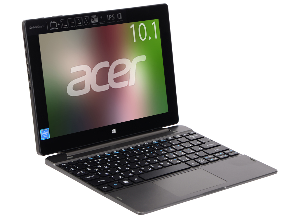 Планшетный ПК Acer Aspire Switch One 10 SW1-011-19J9 (NT.LCSER.004) 64Gb 10.1'' WXGA(1280x800) IPS/Intel Atom x5-Z8550 1.44GHz Quad/2Gb/64Gb/Intel HD