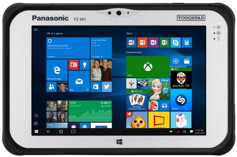 Планшет Panasonic Toughpad FZ-M1 7 128Gb черный Wi-Fi Bluetooth 3G LTE 4G Windows FZ-M1AGJACE9 FZ-M ps vita дешево 3g wi fi