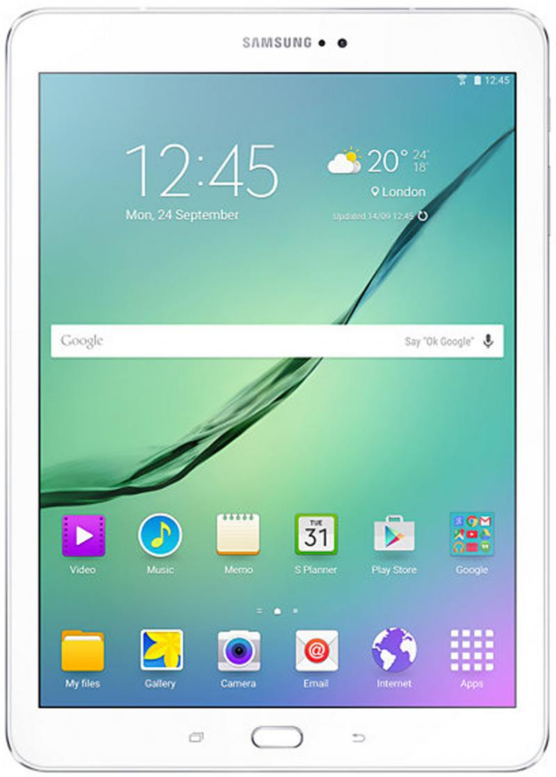 Планшет Samsung Galaxy Tab S2 SM-T819NZWESER MSM8976 (1.8) / 3Gb / 32Gb / 9.7 Super AMOLED / Wi-Fi / BT / 3G / LTE / 2.1+8mpx / Android 6.0 / White stainless steel watch band for samsung galaxy gear s2 classic sm r732