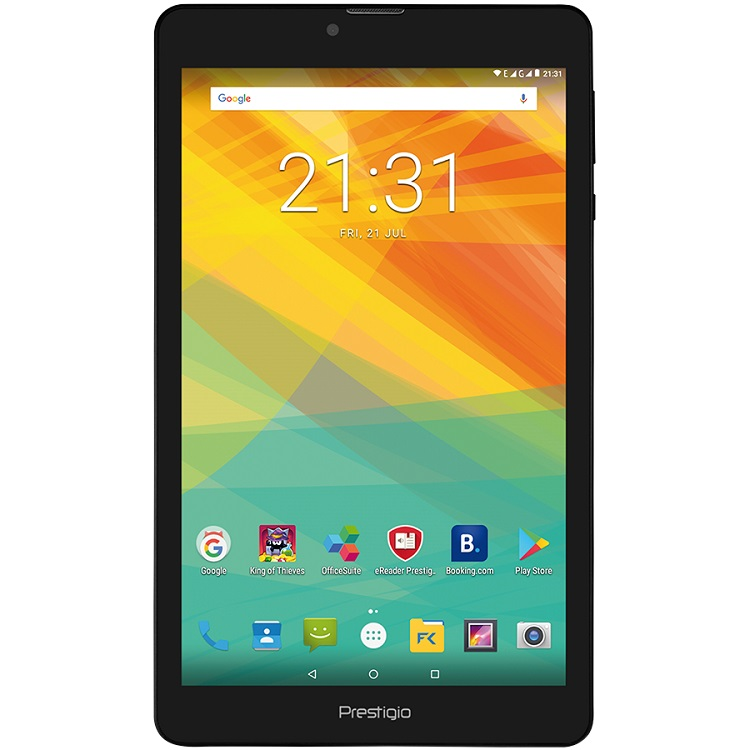 Планшет Prestigio Muze 3708 3G (WCPMT37083GCCIS) Quad core/1GB/8GB/8.0 HD (800x1280) IPS display/Dual SIM/0.3MP + 2.0MP/Android 7.0/Black prestigio muze c3 dual black