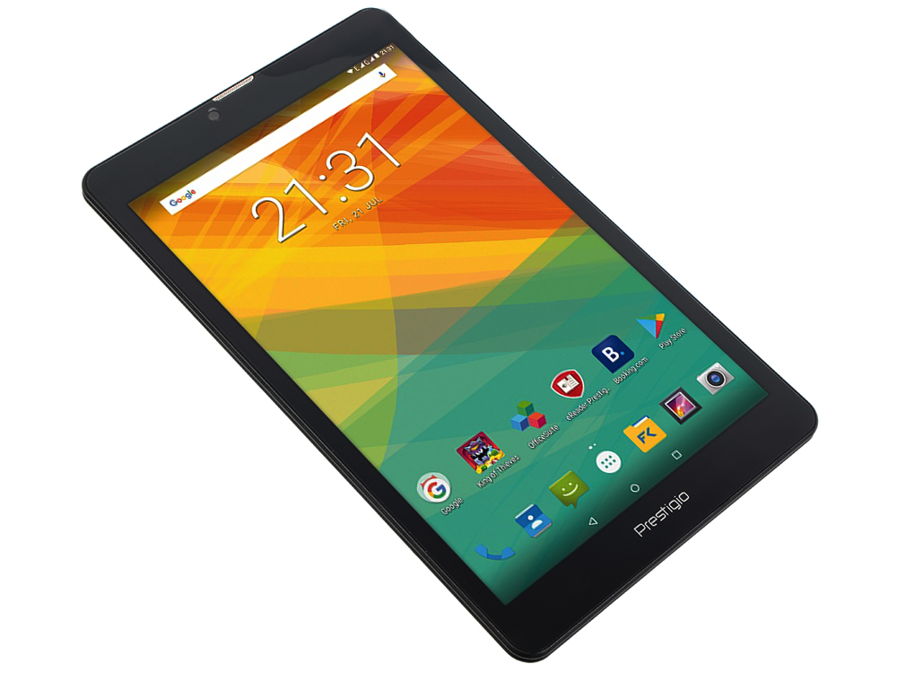 Планшет Prestigio Muze 3708 3G (WCPMT37083GDCIS) Quad core/1GB/16GB/8.0 HD (800x1280) IPS display/Dual SIM/0.3MP + 2.0MP/Android 7.0/Black 5 0 дюймовый 3g смартфон android 5 1 1 quad core dual sim