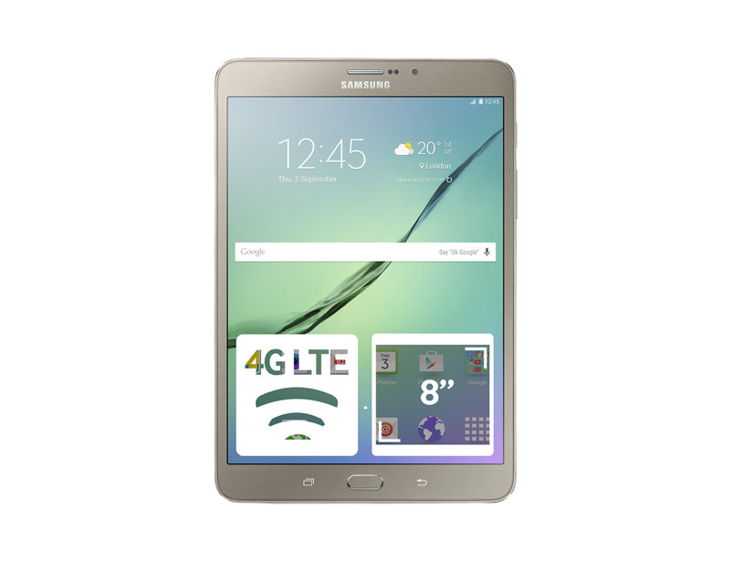 Планшет Samsung Galaxy Tab S2 8.0 (Gold) Exynos 5 Octa 5433 (1.8) / 3Gb / 32Gb / 8 2048x1536 / 3G / 4G LTE / WiFi / BT / GPS / 8Mp, 2.1Mp Cam / Android 6.0 dash camera junsun a730 32gb 7 inch 3g car gps navigation android wifi dvr camera video recorder rearview mirror vehicle gps