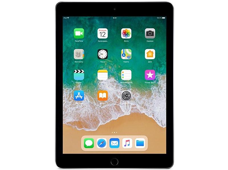 цена на Планшет Apple iPad MR7F2RU/A A10 (2.20) / 2Gb / 32Gb / 9.7'' IPS Retina / Wi-Fi / BT / 1.2+8mpx / iOS / Space Grey