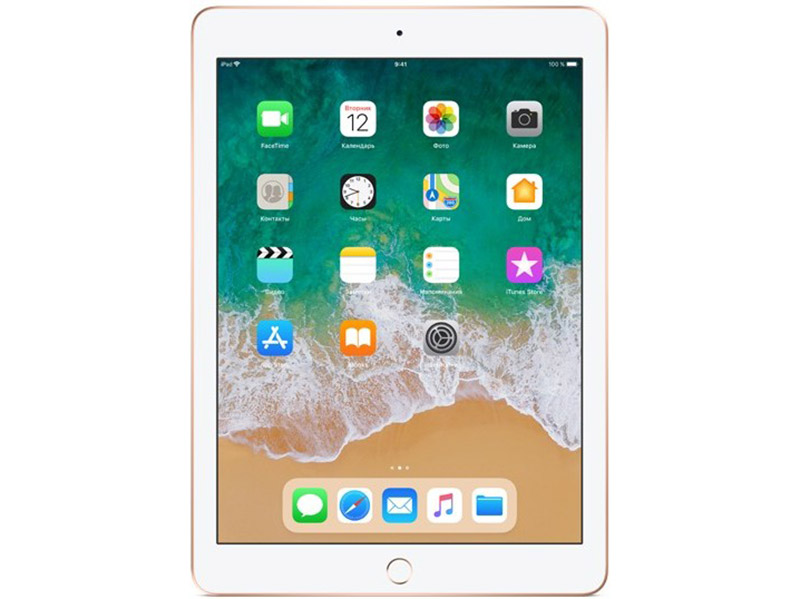 Планшет Apple iPad MRJP2RU/A 128GB 9.7'' IPS (2048x1536) Retina/A10/WiFi/BТ/8.0MP/iOS11/Gold