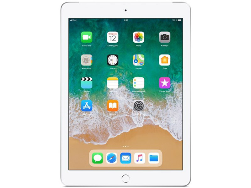 Планшет Apple iPad MR6P2RU/A A10 (2.20) / 2Gb / 32Gb / 9.7'' IPS Retina / Wi-Fi / BT / 3G / LTE / 1.2+8mpx / iOS / Silver планшет apple ipad wi fi cellular 128gb retina mrm22ru a 9 7 ips 2048x1536 retina a10 3g lte wifi bт 8 0mp ios11 gold