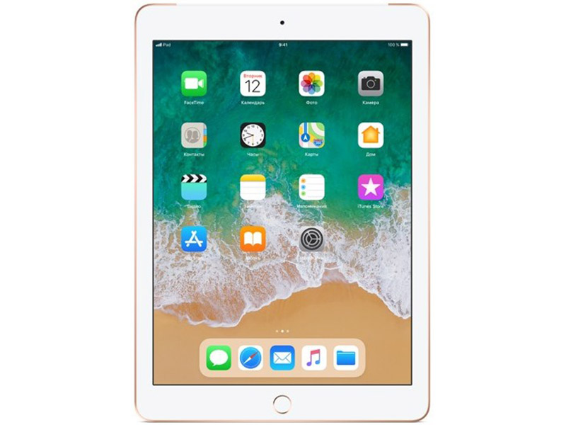 Планшет Apple iPad Wi-Fi+Cellular MRM02RU/A 32GB 9.7'' IPS (2048x1536) Retina/A10/3G+LTE/WiFi/BТ/8.0MP/iOS11/Gold ipad mini 32gb wifi cellular в кредит