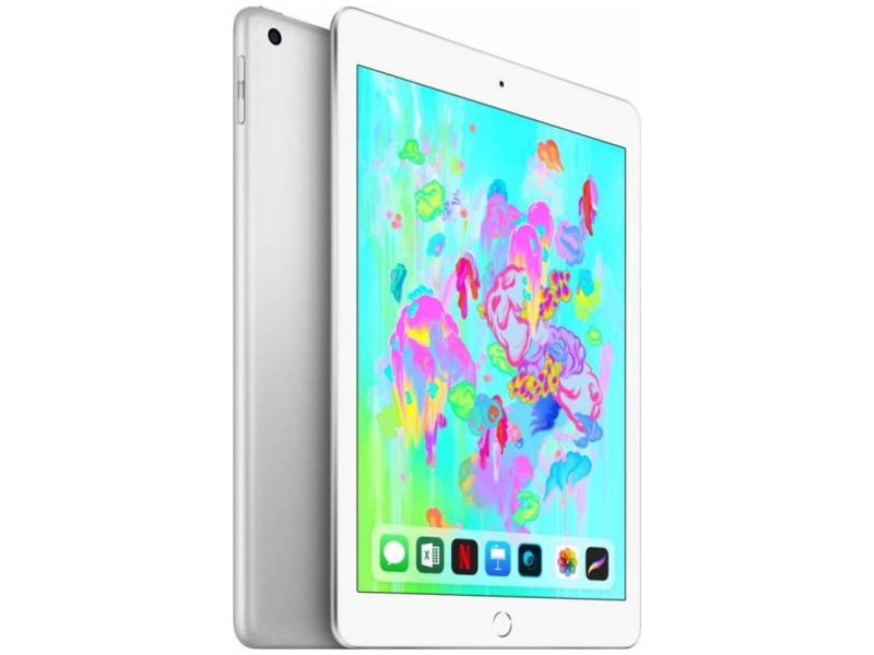 Планшет Apple iPad 9.7 128GB (MR7K2RU/A) Apple A10 Fusion / 2GB / 128 GB / 9.7 Retina IPS / WiFi / BT / NFC / 8Mp, 2 Mp / iOS11 (Silver) смартфон apple iphone 8 256gb silver mq7d2ru a apple a11 2 gb 256 gb 4 7 1334x750 12mpix 3g 4g bt ios 11