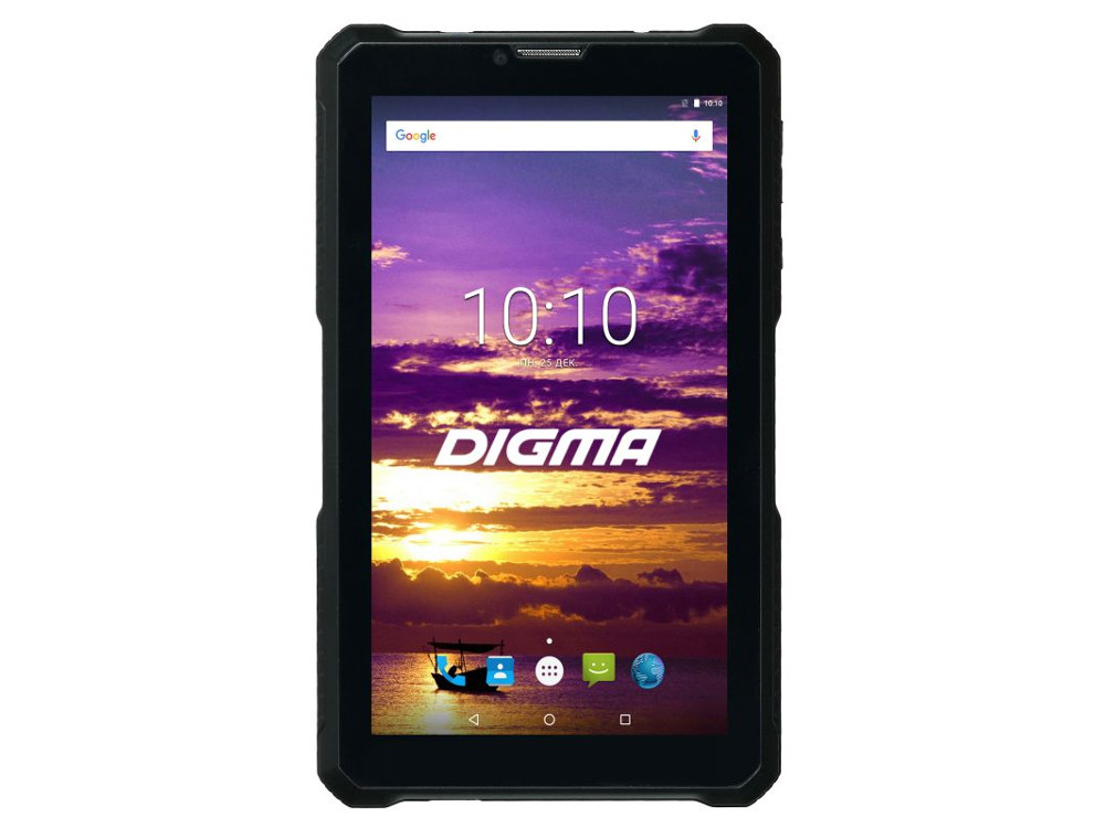 Планшет Digma Plane 7565Т 3G (Black) Spreadtrum SC7731 (1.3) / 1Gb / 16Gb / 7 1024x600 IPS / 3G / PowerBank / 2Mp, 0.3Mp Cam / Android 7.0 digma optima 7010d 3g