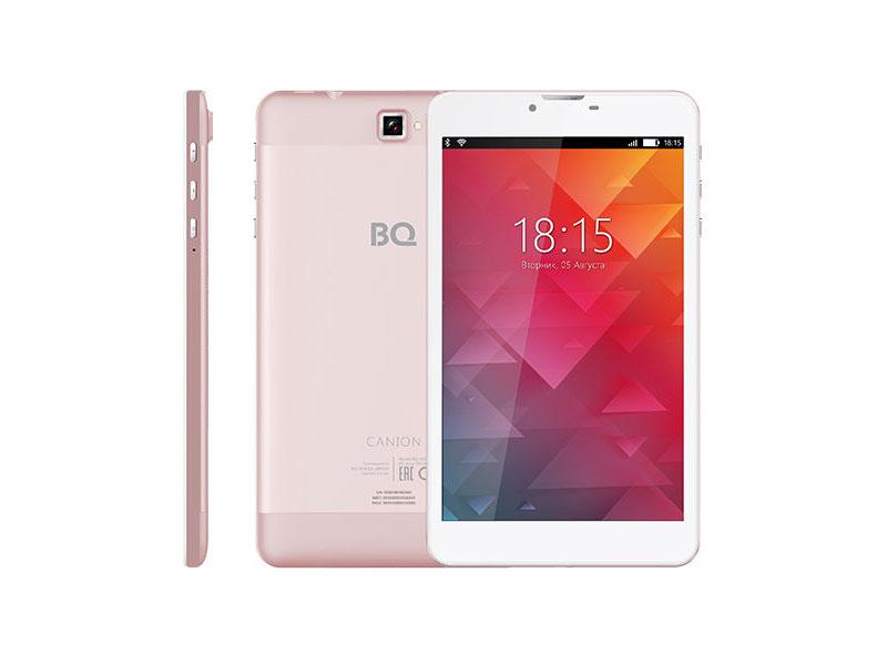 Планшет BQ-7022G Canion SC7731 / 1Gb / 8Gb / 7 IPS WXGA / Wi-Fi / 3G / 5+2mpx / Android 7 / Rose-gold cube куб iplay 8 7 85 дюймовый планшет 64 mt8163 четырехъядерный процессор wi fi планшет 1024x768 ips экран до белого серого