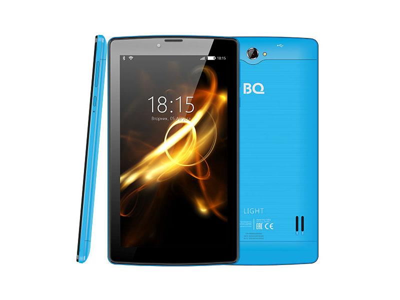 Планшет BQ-7083G Light SC7731 (1.0) / 1Gb / 8Gb / 7 WSVGA / Wi-Fi / BT / 3G / 2+0.3mpx / Android 7 / Blue планшет tesla neon color 7 0 3g 7 8gb синий wi fi 3g android neon 7 0 3g