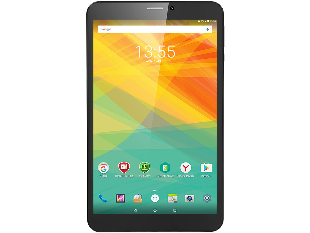 Планшет Prestigio Wize 3518 4G (PMT35184GECCIS) Quad core up to 1.1GHz/1GB/8GB/8''(800*1280)IPS/SIM/0.3MP Front + 2.0MP/Android 6.0 Black планшетный пк 10 1 ainol ax10 4g lte ips 1280 800 mtk mt8732 64 bit 1gb 8gb android 4 4 tdd hdmi 5 0mp gps