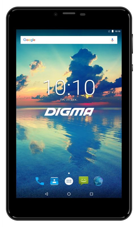 Планшет Digma Plane 7561N (PS7176MG) MediaTek MT8321 (1.3) / 1GB / 16GB / 7 1280x800 IPS / 3G / GPS / 2Mp, 0.3Mp / Android 7.0 (Black) s6 5 ips hd mtk6589 smartphone 1gb 16gb 13 0mp android 4 2 3g gps