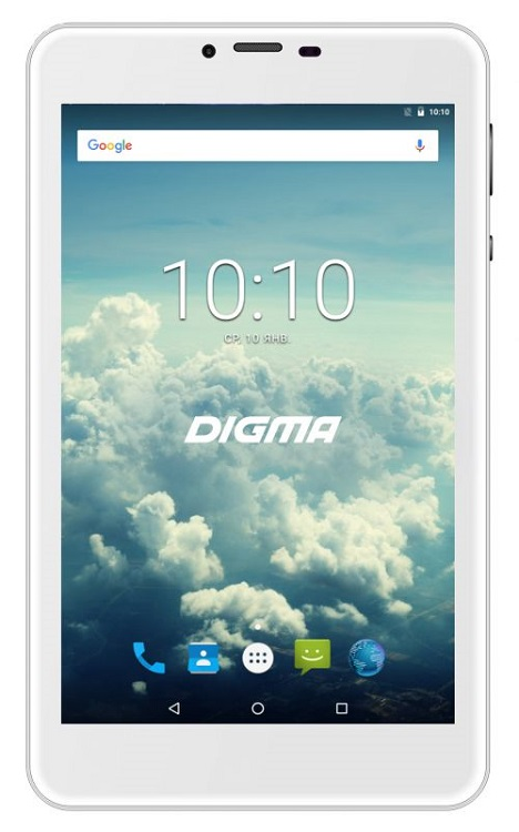Планшет Digma Plane 7563N (PS7178ML) MediaTek MT8735 (1.0) / 1GB / 16GB / 7 1280x800 IPS / 3G / 4G LTE / GPS / 2Mp, 0.3Mp / Android 7.0 (Silver)